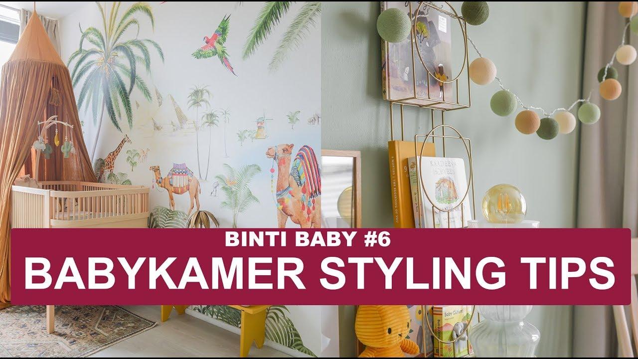 Babykamer inrichten met prachtig jungle behang binti baby