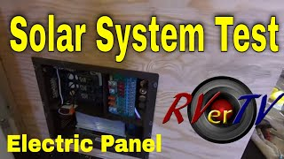 Renogy Solar System Test - Electrical Panel Layout