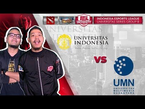 UNIV INDONESIA VS UNIV MULTIMEDIA NUSANTARA W/ COKI & TRETAN @IEL 2019 (MLBB - DOTA 2)