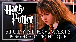 STUDY AT HOGWARTS - Pomodoro | ASMR + Music Breaks | Study with me Harry Potter Peaceful Relaxing
