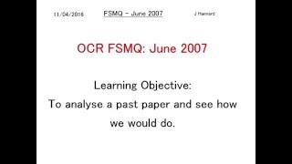 ocr fsmq additional mathematics past paper 1 june 2007