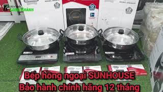 Bếp điện từ Sunhouse SHD6147 (cơ), SHD6800 (cảm ứng) và SHD6801 (cảm ứng), tặng nồi lẩu inox 26cm