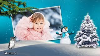 Proshow Producer БЕСПЛАТНЫЙ  проект 'Пожелания снеговика'