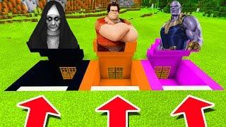 Minecraft PE : DO NOT CHOOSE THE WRONG SECRET BASE! (The Nun, Wreck it Ralph & Thanos)