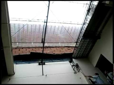 La cubierta de viguetas retr ctiles youtube for Escaleras retractiles