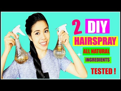 2 DIY Hairspray -All Natural Ingredients-TESTED-DOES IT WORK? Beautyklove