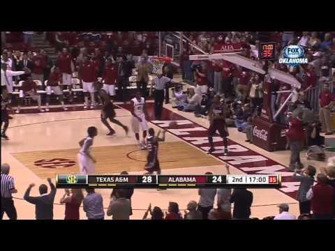01/19/2013 Texas A&M vs Alabama Men's Basketball Highlights