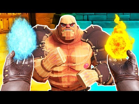 Blasting Gladiators with Magical Spells! Gorn Wizard!  - Gorn Gameplay - VR HTC Vive Pro