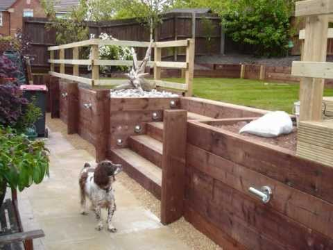 How to build a retaining wall from timber YouTube