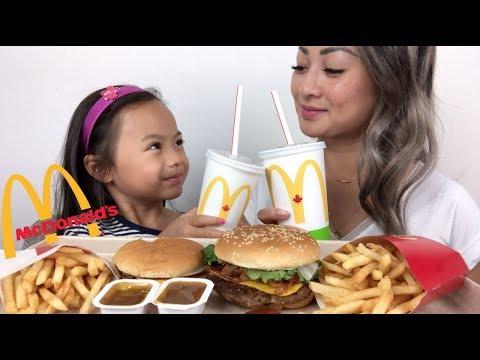McDonald's Quarter Pounder BLT & Cheeseburger | Mukbang | N.E Lets Eat