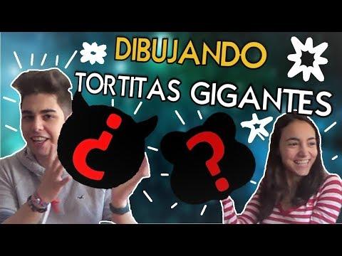 DIBUJANDO TORTITAS GIGANTES!! | Cocina con Poweradri