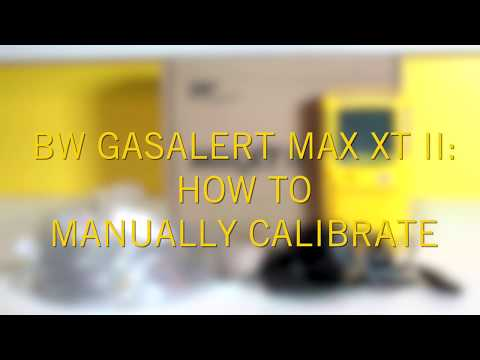 How Do I Manually Calibrate the BW GasAlertMax XT II Multi Gas Detector?