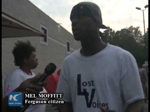 Protests erupt again on Ferguson shooting anniversary