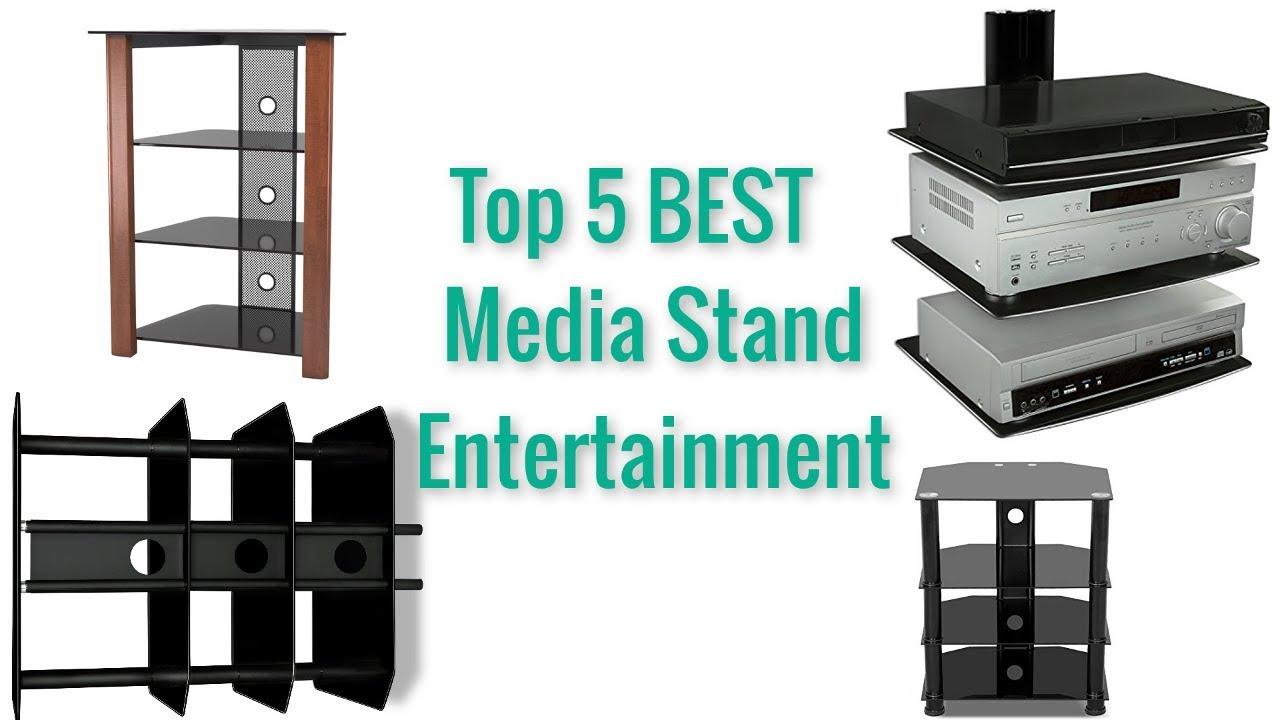 Top 5 Best Av Component Media Stand Glass Shelves Audio