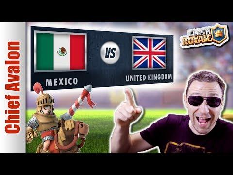 MGL WORLDS: MEXICO (ft. SergioRamos ) vs UNITED KINGDOM (UK) - Clash Royale eSports - 4K 60FPS