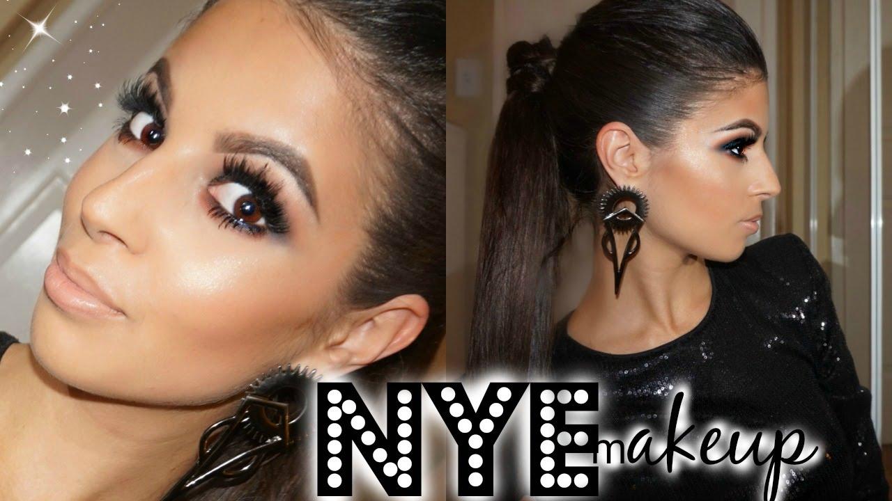 New Years Eve Makeup Hair Tutorial Sparkle Bombshell Youtube