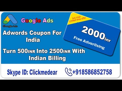 Adwords Coupon For 2019 | Google Adwords Coupon | Spend 500 Get 2000