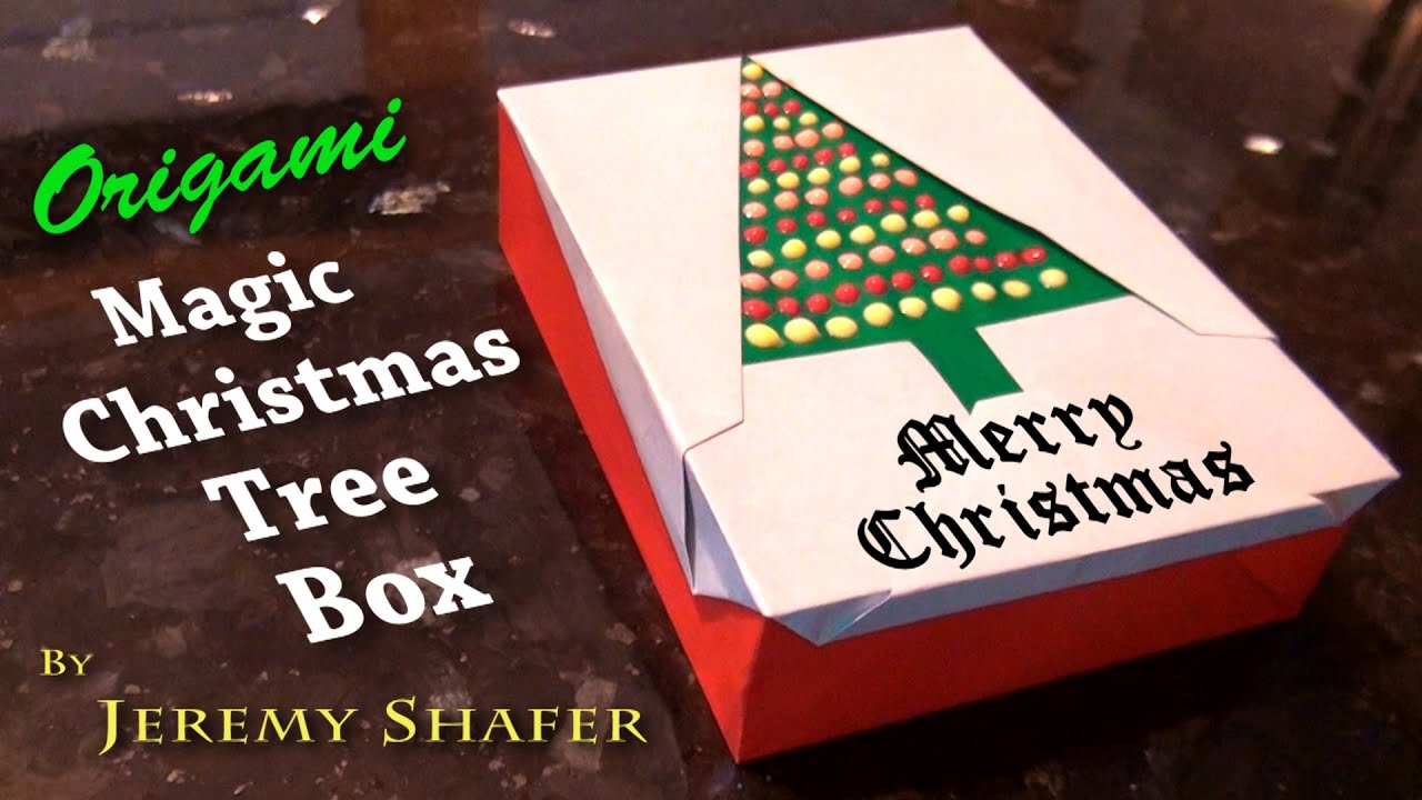 Origami magic christmas tree box youtube for Christmas tree in a box
