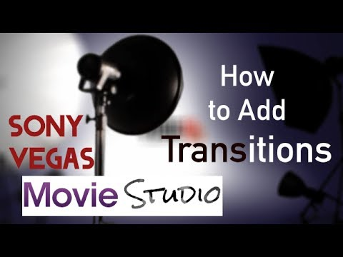 sony veggas how to add transition to text