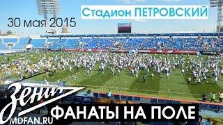 Фанаты Зенита выбежали на поле праздновать золото и чемпионство