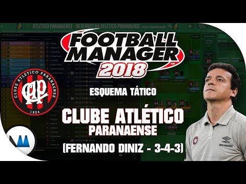 ESQUEMA TÁTICO DO ATLÉTICO PR (3-4-3) Fernando Diniz - Football Manager 2018 (FM 2018)