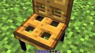 Minecraft Modsuz - Sandalye (Oturulabilen) Masa - Büyük Masa - Kitaplar - Televizyon