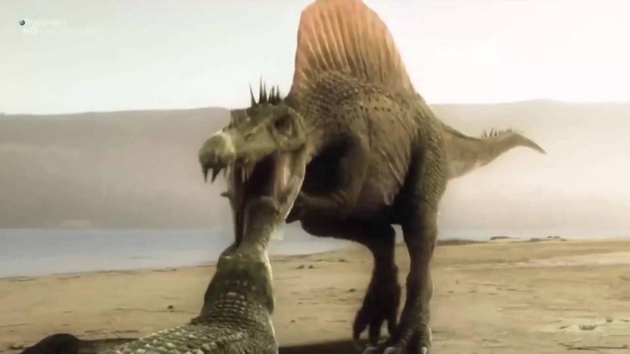 Динозавры гигантские чудовища крупнейший динозавр убийца  Спинозавр часть 4