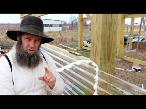 BUILDING A GREENHOUSE IN WINTER - TUFTEX PANELS