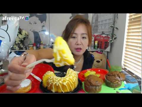 (미국먹방) -  Lemon cake .Lemon donut/ MUKBANG