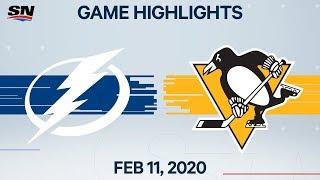 NHL Highlights   Lightning vs. Penguins - Feb. 11, 2020