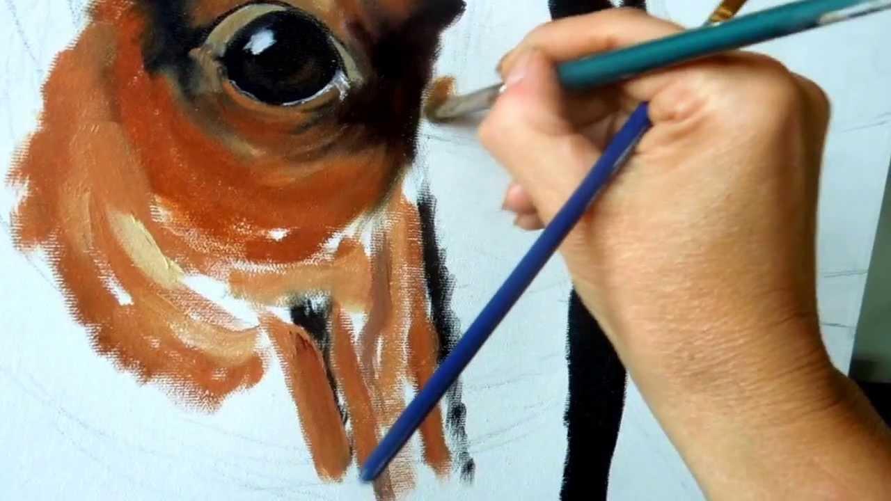 Peindre un cheval youtube for Peindre sur du melamine blanc