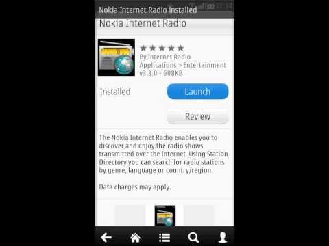 Nokia 603 Ovi store app