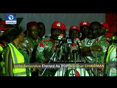 Fmr Benue Gov Suswam Announces Uche Secondus As PDP New National Chairman