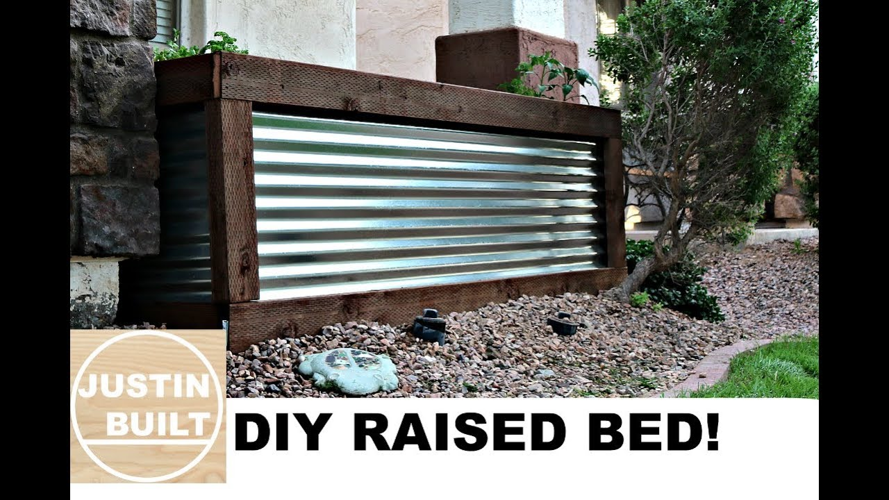 Diy Corrugated Metal Raised Bed Youtube
