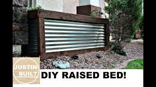 DIY Corrugated Metal Raised Bed!