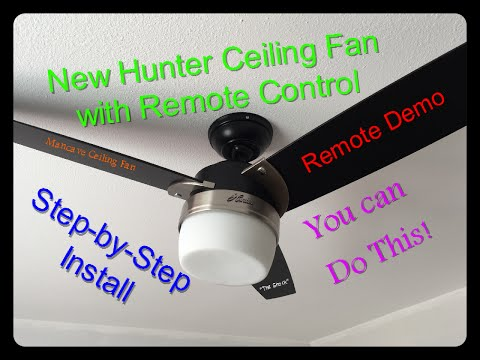 how-to-install-a-ceiling-fan-with-remote-control,-hunter-ceiling-fan-model#-59188