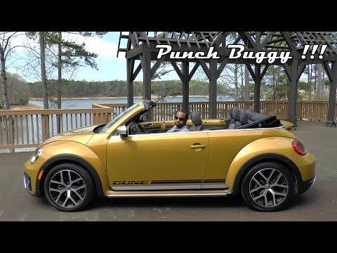 2017 Volkswagen Beetle 1.8T Dune Convertible Review - Punch Buggy !!!