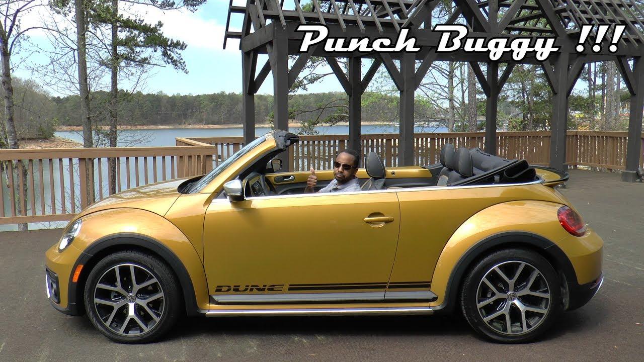 2017 Volkswagen Beetle 1.8T Dune Convertible Review - Punch Buggy !!! - YouTube
