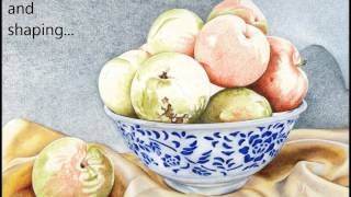 COLORED PENCIL tutorial: Golden Plums
