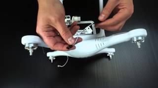 Установка бесколлекторного подвеса на модель Skycap
