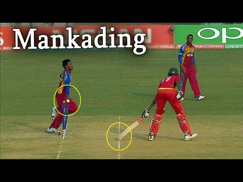 Run Out A Non Striker Without Ball Being Bowled | Mankading Incident |