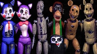 Five Nights at Candy's 2 ALL ANIMATRONICS / ALL JUMPSCARES [EXTRA]