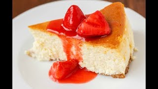 Cheesecake with Strawberry Glaze | EASY TO LEARN | QUICK RECIPES