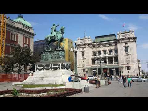 BELGRADO, Serbia - Republic Square (settembre 2016)