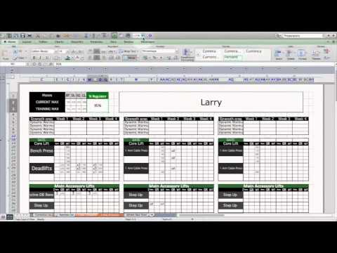 Strength & Conditioning Excel Template: Level 1
