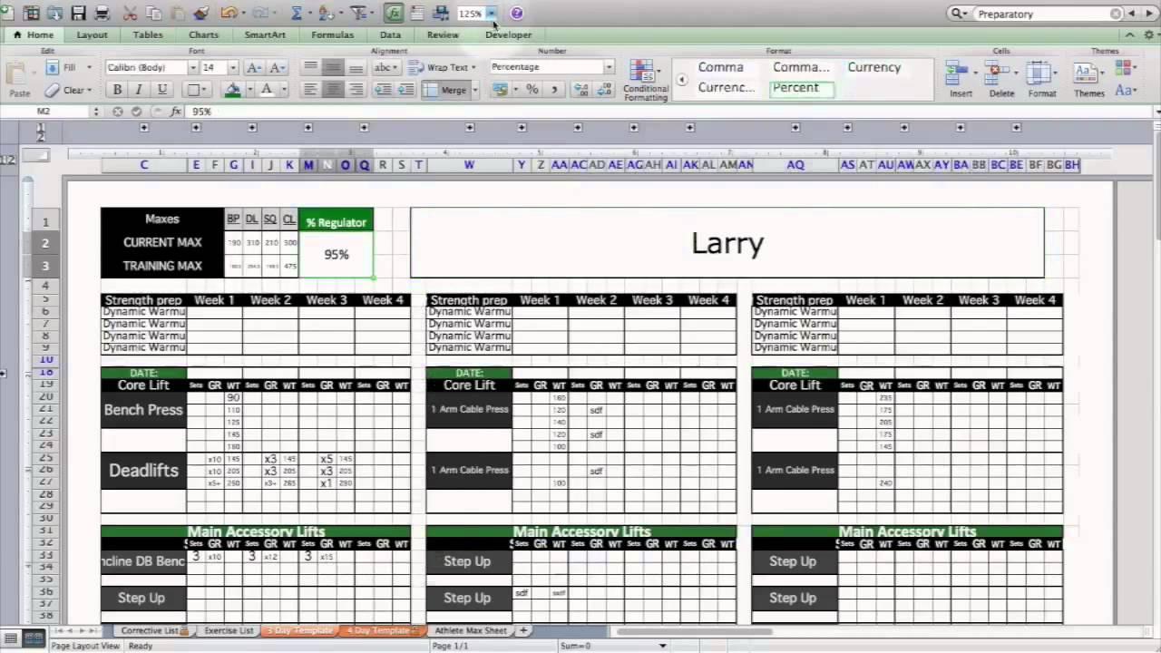personal training program design templates