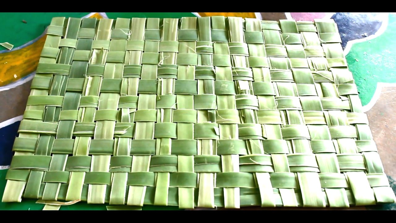 How To Make Mat With Palm Tree Leaves Youtube