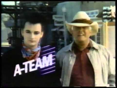 NBCs The A Team Promo With Boy George And Peppard Feb 86