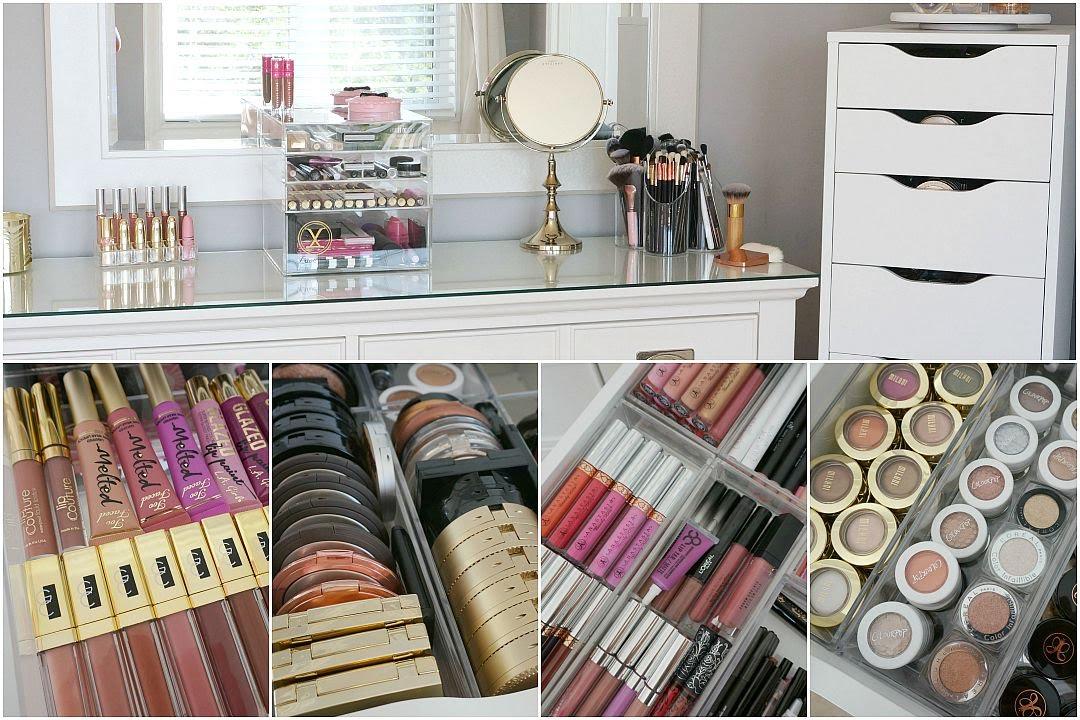 Makeup Collection Storage Amp Organization 2015 Youtube