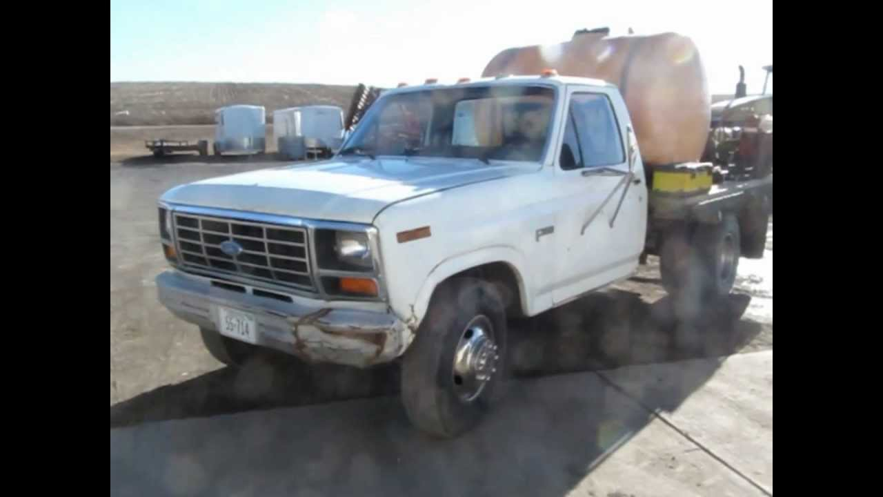 1983 ford f350 flatbed truck for sale sold at auction march 20 rh youtube com Ford OBS Flatbed Bradford Flatbed Truck